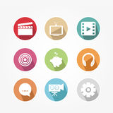 Set of icons - vintage Stock Photos