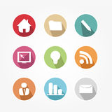 Set of icons - vintage Stock Images
