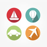 Set of icons - vintage stock illustration