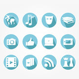 Set of icons - vintage Royalty Free Stock Images