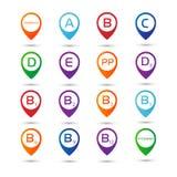 Set icons vitamins Royalty Free Stock Photo