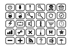 Set of icons for WEB. On a white background Stock Image