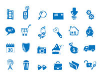 Set - Icons for web and communications. Vector illustration -- set Icons for web and communications royalty free illustration