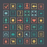 Set of icons web design elements Stock Photography