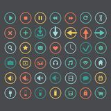 Set of icons web design elements Royalty Free Stock Photos