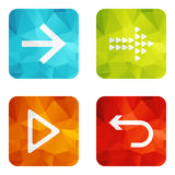 Set icons Stock Images