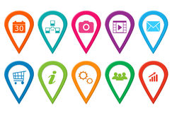 Set of icons for web Stock Photos