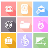 Set icons for web and mobile applications Stock Images