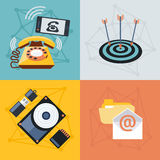 Set icons for web and mobile applications Royalty Free Stock Photos
