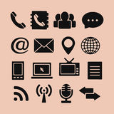 Set of Icons for Web and Mobile Royalty Free Stock Image