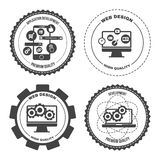 Set of icons web mobile services apps. Set of design concept icons for web mobile phone services apps development. Vector Illustration Royalty Free Stock Image