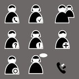 Set of icons for web and telephone Royalty Free Stock Image