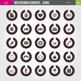 Set of icons. Set of 25 web icons. Web Design elements Royalty Free Stock Photography
