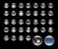 Set_of_icons_for_website Royalty Free Stock Images