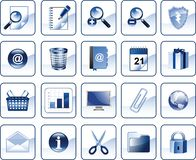 Set of icons for website Stock Photo