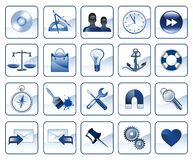 Set of icons for website Stock Photos