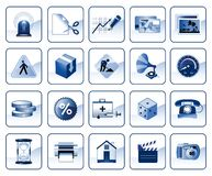 Set of icons for website Royalty Free Stock Photos