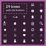 Set of 29 icons for website buttons Royalty Free Stock Images