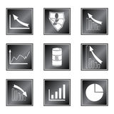 Set of icons. On white background Royalty Free Stock Photography