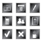Set of icons. On white background Royalty Free Stock Image