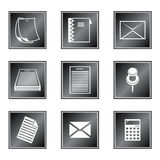 Set of icons. On white background Stock Images