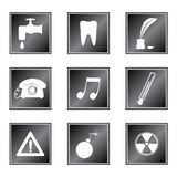 Set of icons Stock Images