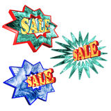 Set of icons on a white background sale. Closeup Stock Photo