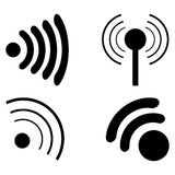 Set Icons Wi fi. Illustration Royalty Free Stock Photo