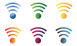 Set of icons with wifi signal Royalty Free Stock Image