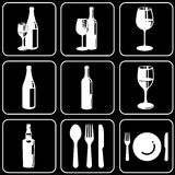 Set of icons (wine) Stock Photo