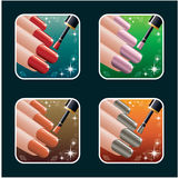 Set of icons of womens manicure. PS10 Royalty Free Stock Images