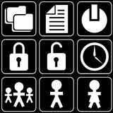 Set of icons (work, office) Stock Photography