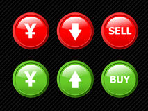 Set of icons for yen currency. Stock Photography