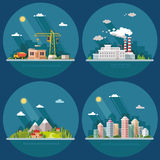 Set of icons for your design. Flat style vector illustration. Stock Photos