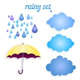 Set of icons for your rain. Royalty Free Stock Photos