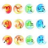 Set icons Zodiac. Vector illustration set Colorful icons Zodiac like 3D Royalty Free Stock Photo