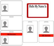 Set of ID Badges Royalty Free Stock Photography