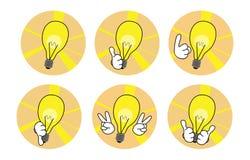 Set of idea icons Stock Image