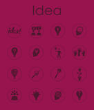Set of idea simple icons Royalty Free Stock Photos