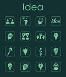 Set of idea simple icons Royalty Free Stock Photo