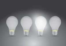 Set of ideas. one bright ideas illustration design Royalty Free Stock Photos