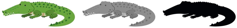 Set if crocodile character. Illustration vector illustration