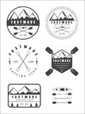 Set if vintage rafting logo, labels and badges Stock Photo