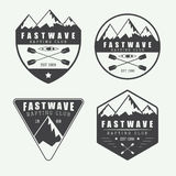 Set if vintage rafting logo, labels and badges Royalty Free Stock Photography
