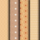 Set ight brown pattern geometrical. Set light brown pattern geometrical can be used endlessly Royalty Free Stock Photo