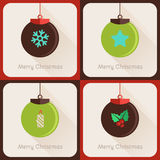 Set II of greeting cards Christmas ball Stock Images