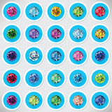 Set 25 ikon barwionych gemstones Royalty Ilustracja