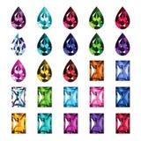 Set 25 ikon barwionych gemstones Ilustracji