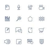 Set 16 ikon dla oprogramowania, zastosowania lub stron internetowych, - ogólnospołeczni środki i technologia Obrazy Royalty Free