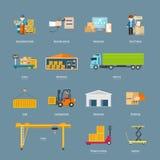Set ikon logistyk Przewieziony pojęcie Obraz Royalty Free